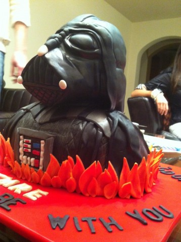 Darth Vader Birthday Cake