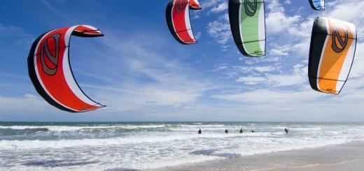Katar'da Kitesurfing