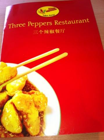 Three Peppers Restoran Menu Kapagi