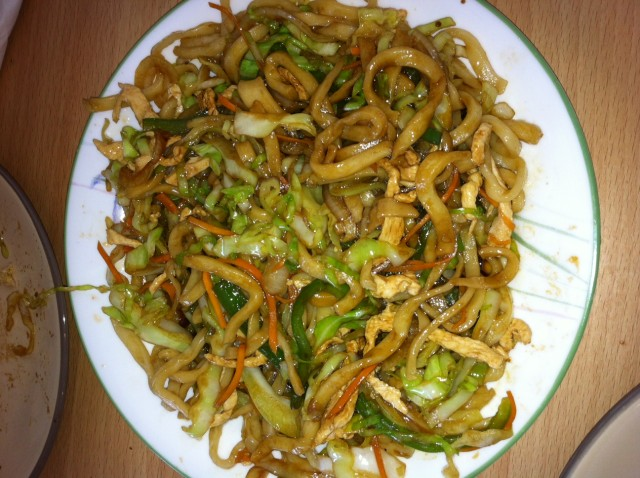 Three Peppers Fried Chinese Noodle