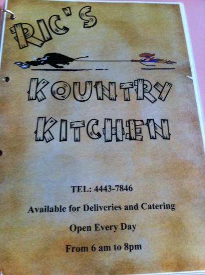 Ric's Country Kitchen Menu Kapagi