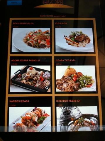 Agora Restoran-Ana Yemek Menusu